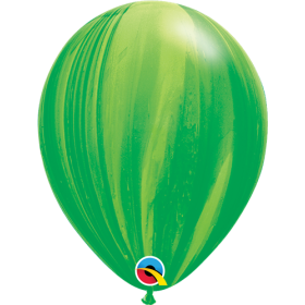 Qualatex Green Super Agate 11 inch Latex Balloon - 25 count