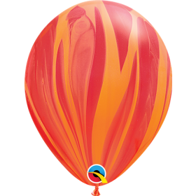 Qualatex Red Orange Super Agate 11 inch Latex Balloon - 25 count