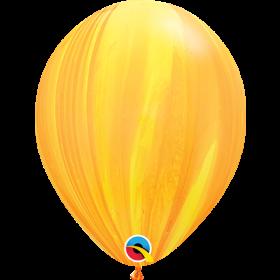 Qualatex Yellow Orange Super Agate 11 inch Latex Balloon - 25 count