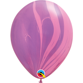 Qualatex Pink Violet Super Agate 11 inch Latex Balloon - 25 count