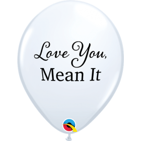 11 inch Qualatex Simply Love You Mean It Latex Balloons - 50 count