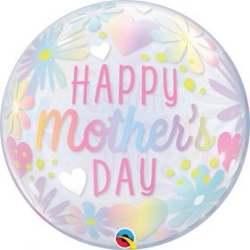 22 inch Qualatex Mothers Day Floral Bubble Balloon
