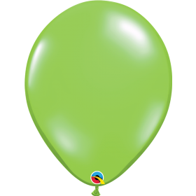 11 inch Qualatex Jewel Lime Latex Balloons - 100 count