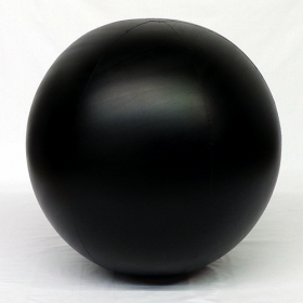 4 foot Black Vinyl Display Ball