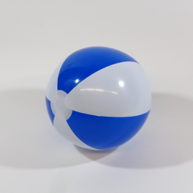 16 inch Blue White Beach Balls (11 inch inflated diameter)