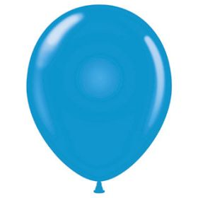17 inch Tuf-Tex Standard Blue Latex Balloons - 50 count