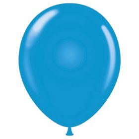 17 inch Tuf-Tex Standard Blue Latex Balloons - 72 count