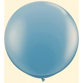 36 inch Tuf-Tex Round Latex Balloons - Blue Slate
