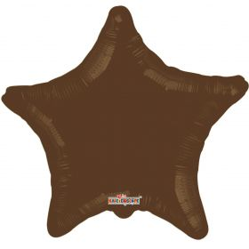 18 inch Brown Star Foil Balloons
