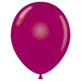 24 inch Tuf-Tex Crystal Burgundy Latex Balloons - 25 count