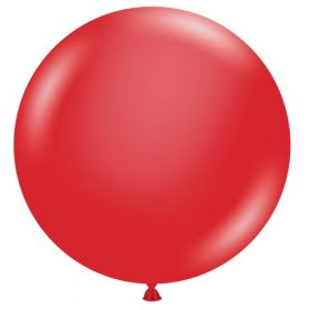 36 inch Tuf-Tex Crystal Red Latex Balloon