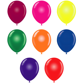 24 inch Tuf-Tex Latex Balloons - Crystal Assorted - 25 count