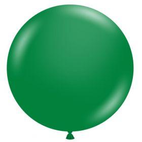 36 inch Tuf-Tex Crystal Emerald Green Latex Balloon