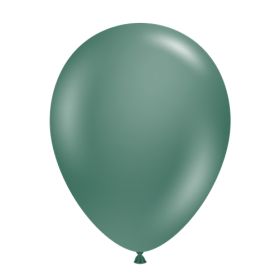 11 inch Tuf-Tex Latex Balloons - Evergreen - 100 count