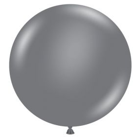 36 inch Tuf-Tex Gray Smoke Latex Balloon