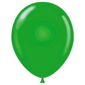 17 inch Tuf-Tex Standard Green Latex Balloons - 50 count