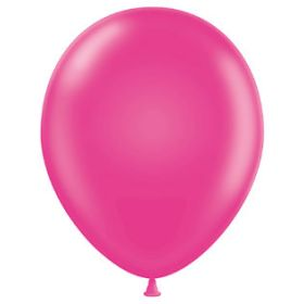 5 inch Tuf-Tex Hot Pink Latex Balloons - 50 count