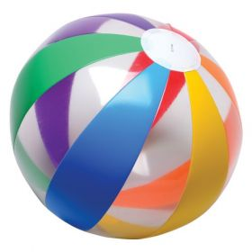 16 Inch Clear Rainbow Beach Ball (11 inch inflated diameter)