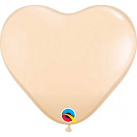 6 inch Qualatex Blush Heart Shape Latex Balloons - 100 count