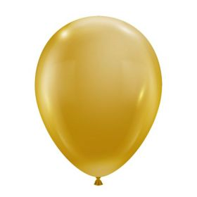 11 inch Luxe Gold Latex Balloons from Tuf-Tex - 100 count
