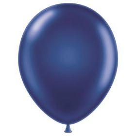 11 inch Tuf-Tex Latex Balloons - Metallic Midnight Blue - 100 count