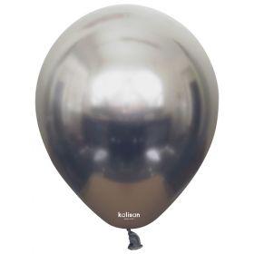 12 inch Kalisan Space Grey Mirror Chrome Latex Balloons - 50 ct