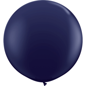 36 inch Tuf-Tex Round Latex Balloons - Navy Blue