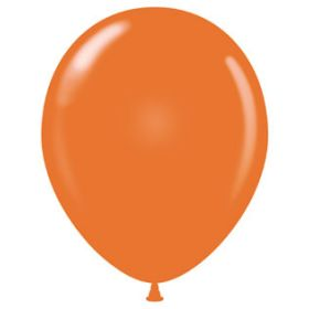 17 inch Tuf-Tex Standard Orange Latex Balloons - 50 count