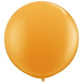 36 inch Tuf-Tex Round Latex Balloons - Standard Orange
