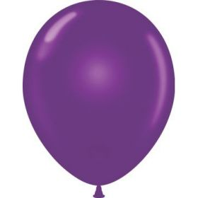 11 inch Tuf-Tex Latex Balloons - Plum Purple - 100 count