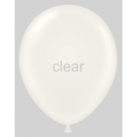 9 inch Sheer Clear Party Style Latex Balloons - 100 count