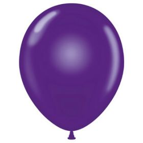 17 inch Tuf-Tex Crystal Purple Latex Balloons - 50 count
