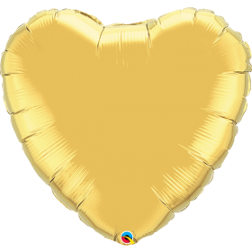 Qualatex 36 inch Gold Heart Foil Balloons