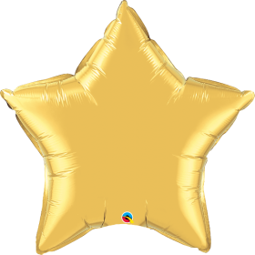 Qualatex 36 inch Gold Star Foil Balloons