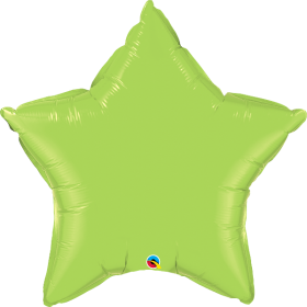 Qualatex 36 inch Lime Green Star Foil Balloons