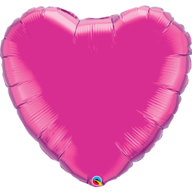 Qualatex 36 inch Magenta Heart Foil Balloons