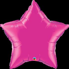 Qualatex 36 inch Magenta Star Foil Balloons