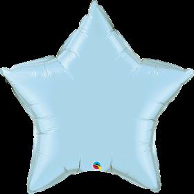 Qualatex 36 inch Light Blue Star Foil Balloons