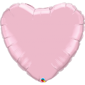 Qualatex 36 inch Light Pink Heart Foil Balloons