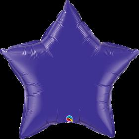 Qualatex 36 inch Purple Star Foil Balloons