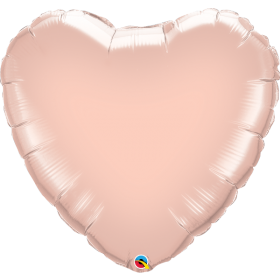 Qualatex 36 inch Rose Gold Heart Foil Balloons