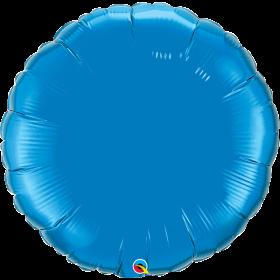 Qualatex 36 inch Sapphire Blue Circle Foil Balloons
