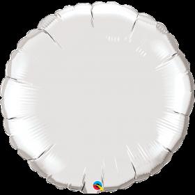 Qualatex 36 inch Silver Circle Foil Balloons