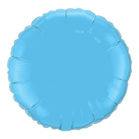 18 inch Light Blue Circle Foil Balloons