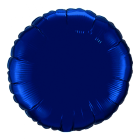 18 inch Navy Blue Circle Foil Balloons
