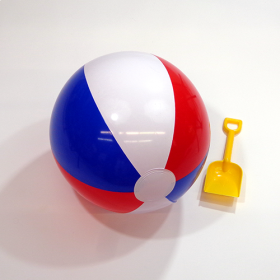 16 Inch Red White Blue Beach Ball (11 inch inflated diameter)