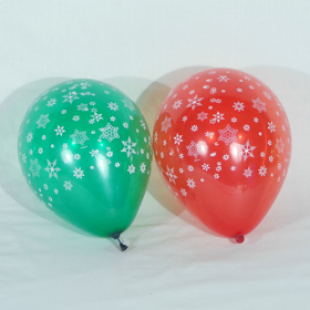 12 inch CTI Snowflakes All-Around Latex Balloons - 50 count
