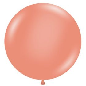 36 inch Tuf-Tex Metallic Rose Gold Latex Balloon