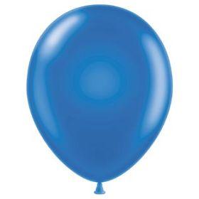 11 inch Tuf-Tex Latex Balloons - Metallic Blue - 100 count