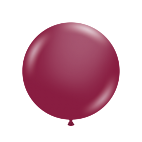 36 inch Tuf-Tex Round Latex Balloons - Sangria